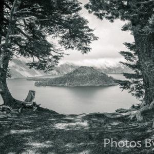 Wizard Island on Crater Lake, Oregon