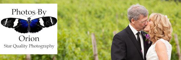 Couple Kissing in vineyard