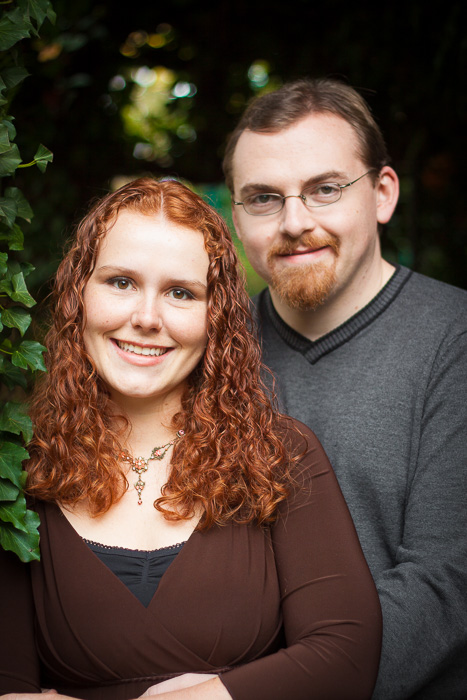 Couple's engagement photo at Deepwood Estate Salem, Oregon