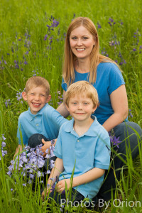 Family Portrait in Camas medow in Bush Pasture Park Salem, Oregon