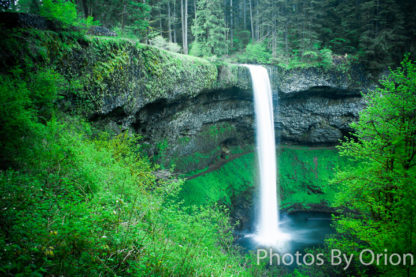 South Silver Falls in Green