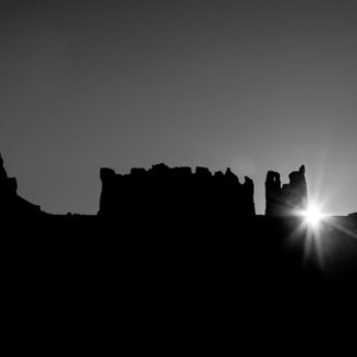 Monument Valley Sunrise B/W