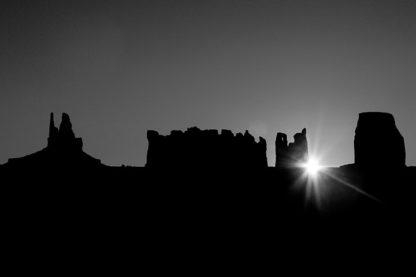 Monument Valley Sunrise B/W