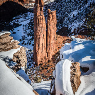 Spider Rock in Winter