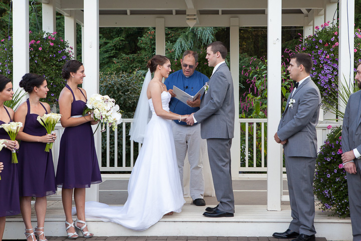 Wedding Ceremony at the Oregon Gardens by Photos By Orion